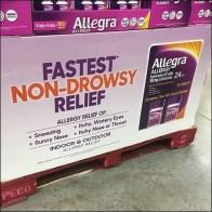 Allegra Non-Drowsy Pallet Merchandising