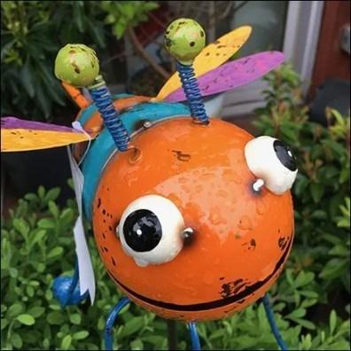 Big Bug-Eyed Insect Garden Denizen Display