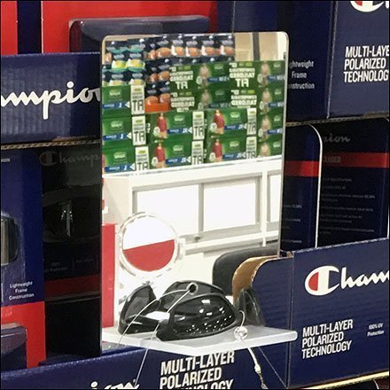 Champion Sunglass Display Built-In Mirror