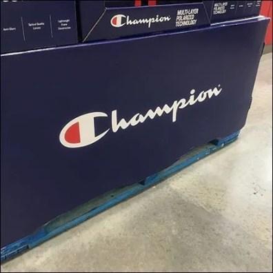 Champion Sunglasses Pallet Display