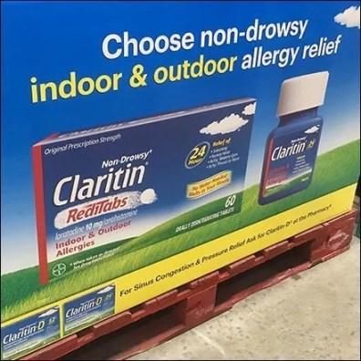 Claritin RediTabs Pallet Merchandising