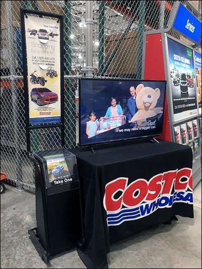 Costco Auto Sales Table Drape Introduction