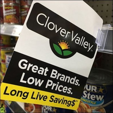 Clover Valley Shelf-Edge Brand Flag