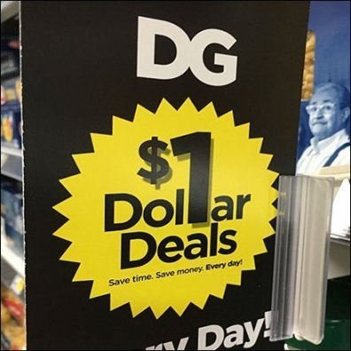 Dollar Deals Aisle Invader Shelf-Edge Branding