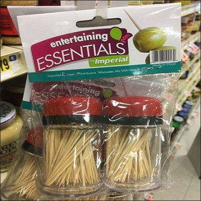 Entertaining Essentials Toothpick Strip Merchandiser