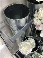Galvanized Floral Vase Display Details