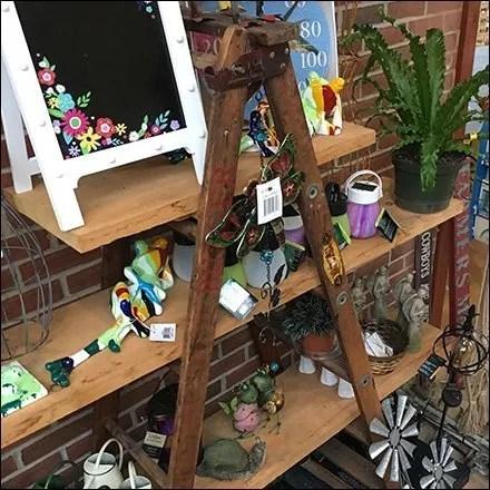 Do-It-Yourself Garden Center Ladder Display