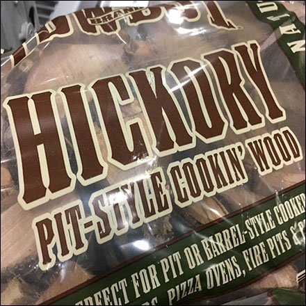 Hickory Grilling Wood Bulk Bin Pallet Display