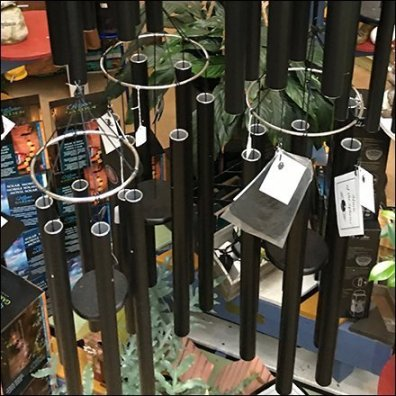 Indoor Wind Chime Pergola Display Feature