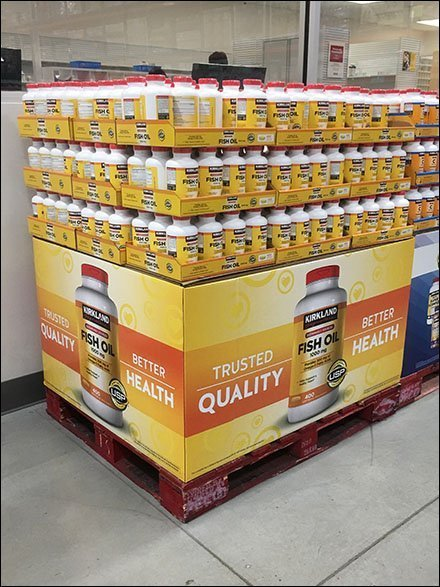Kirkland Fish Oil Pallet Merchandising