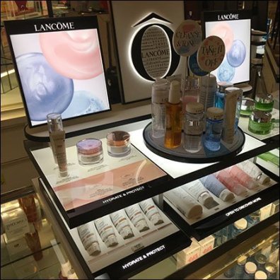 Lancome Cleansing Creme Countertop Display
