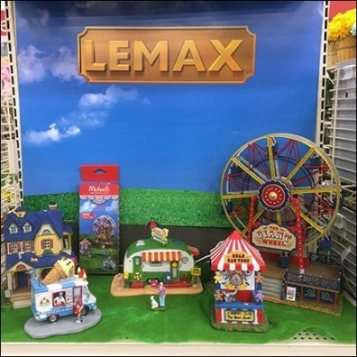 Lemax Summer Fun Village Endcap Display