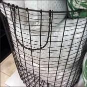 Open Wire Waste Basket Pillow Presentation