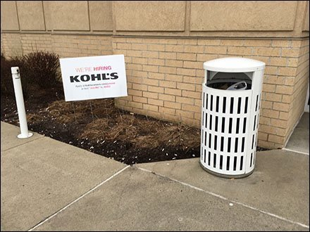 Kohls Text JoinMe Store Hiring Lawn Sign