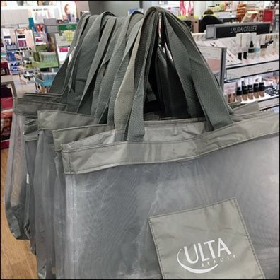 Ulta Shopping Bag Double-Decker Rack