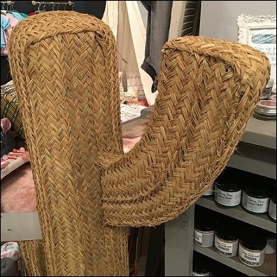 Woven Wicker Cactus Props Retail Shop