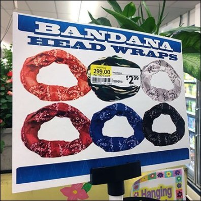 Bandana Head Wrap Frozen Food Display