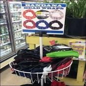 Bandana Head Wrap Frozen Food Display