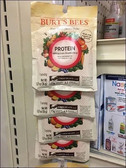 Burt's Bees Protein Shake Strip Merchandiser
