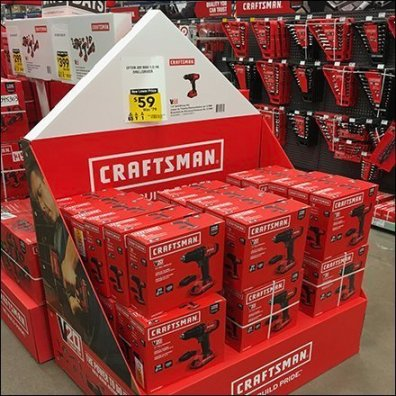 Craftsman Days Power Tool Island Display