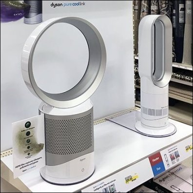 Dual Dyson Fan Display Endcap Promotion