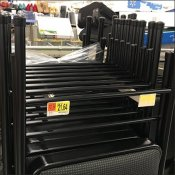 Folding Chair Faceout Bar-Mount Display