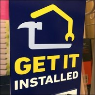 Get It Installed Pallet-Rack Zip-Tie Sign