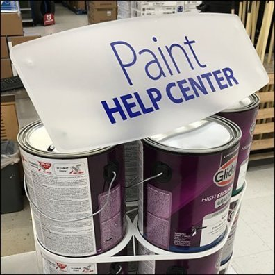 Help Center Paint Stacker Counter-Top Display