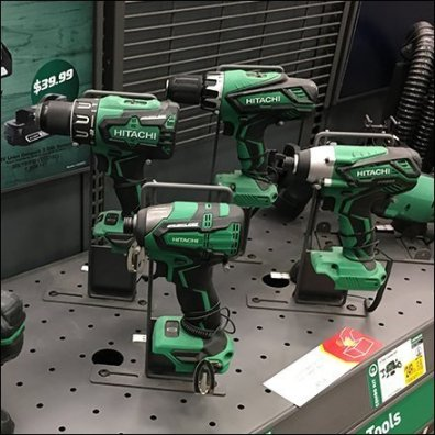 Hitachi Power Tool Counter-Top Drill Display Square1