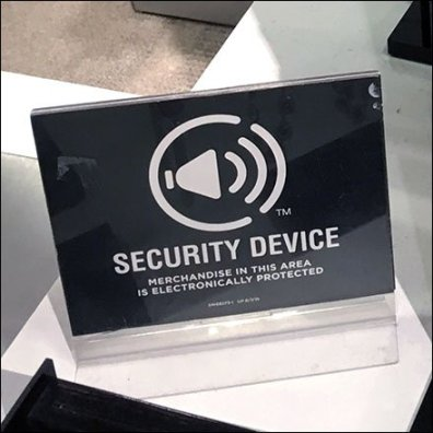 Fashion Jewelry Security Device Shelf-Edge Warning