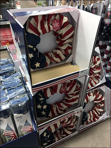 Patriotic Wreath Point-of-Purchase Display