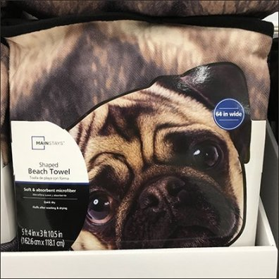 Pet-Shaped Beach Towel Merchandising