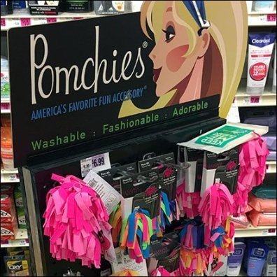 Pomchies Hair Accessories Pegboard Spinner