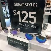 Sunglass Hut Michaels Kors Eyewear Display