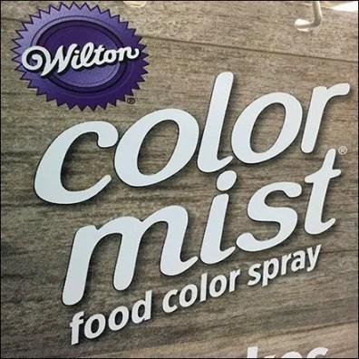 Color Mist Food Spray Aisle Invader Sign