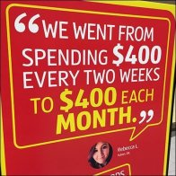 Aldi $400 Budget Testimonial In-Store Feature