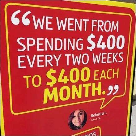 Aldi $400 Budget Testimonial In-Store Feature