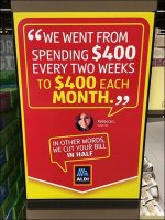 Aldi Budget Savings Testimonial In-Store