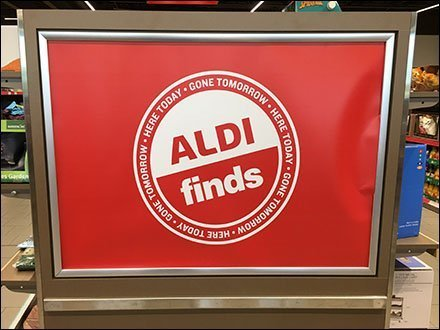 Aldi Finds Here-Today-Gone-Tomorrow Endcap