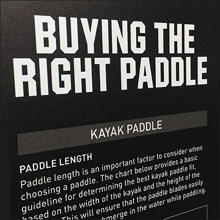 Choosing The Right Paddle Tips In-Store Sign