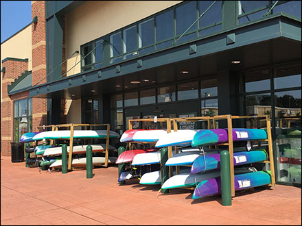 Do-It-Yourself Sidewalk Kayak Rack Display