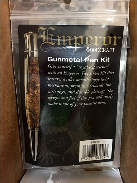 Gunmetal Writing Instrument Component Kit