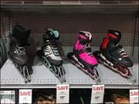 Inline Skates Declined-Shelf Display Endcap