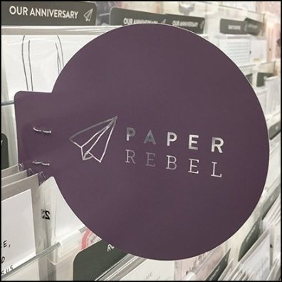 Paper Airplane Paper Rebel Icon Branding Aux