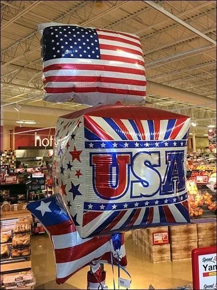 American Flag Patriotic Inflatable Merchandising