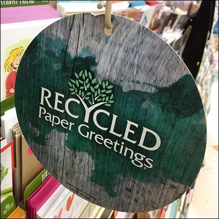 Recycled Greeting Card Dangler Aux