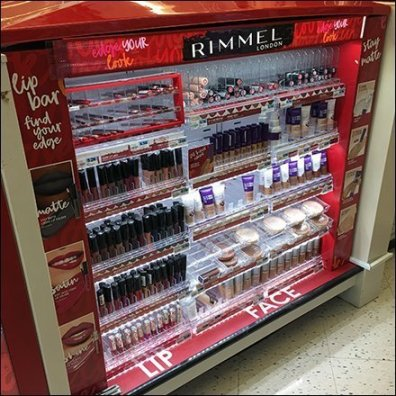 Rimmel Lip Bar Comprehensive Merchandising