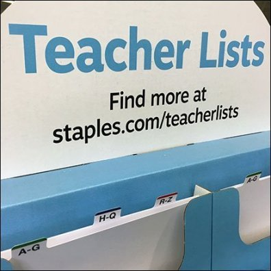 Back-To-School Teachers List Tower Cascade