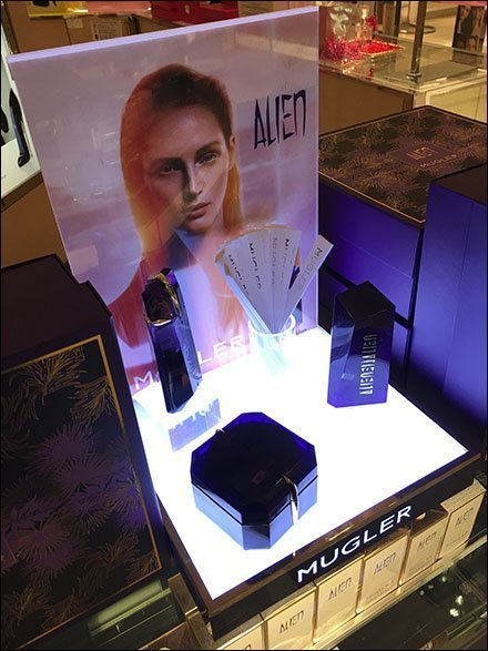 Thierry Mugler Alien Counter-Top Display