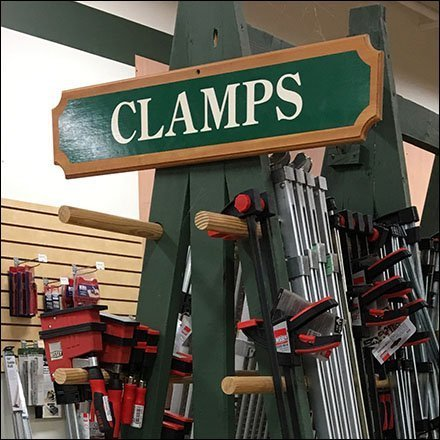 Wood Clamps Oversize A-Frame Display